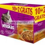 Whiskas kapsa menu ze 4 druhů masa 12ks