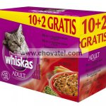Whiskas kapsa menu tmavé maso 12ks