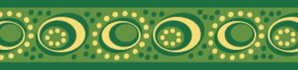 Red Dingo vodítko Cosmos Green 18mm x 1,8m