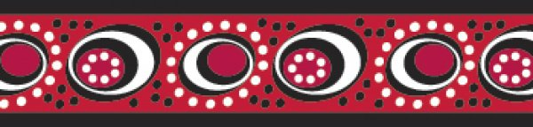 Red Dingo vodítko Cosmos Red 18mm x 1,8m