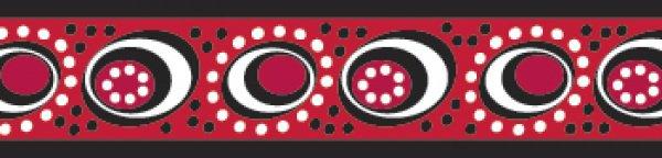 Red Dingo vodítko Cosmos Red 25mm x 1,8m