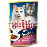 Miglior gatto kapsička s lososem a tuňákem 100g