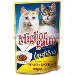 Miglior gatto kapsička s kuřecím a krůtím 100g