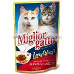 Miglior gatto kapsička s hovězím masem a mrkví 100g