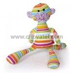 E. T. toy, textilní hračka, duhová barva