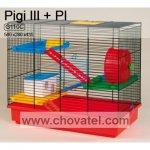 Klec PIGI III + vybavení plastové 50x28x43cm