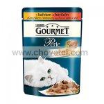 Gourmet Perle Duo kapsička s kuřecím a hovězím 85g