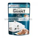 Gourmet Perle Duo kapsička s mořskou rybou a tuňákem 85g
