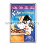 FELIX Sensations s kachnou v želé se špenátem 100 g
