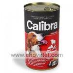 Calibra Dog konzerva hovězí + játra + zelenina 1240g