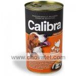 Calibra Dog konzerva krůtí + kuřecí + těstovina 1240g