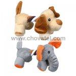 Plyšový pejsek / slon s bavlněnou šňůrou 17cm