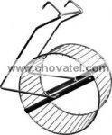 Kolotoč pro hlodavce kovový 15cm