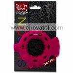 Hračka Dog Fantasy silikon kroužek červený 10cm