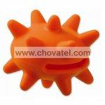 Hračka Dog Fantasy silikon ježek oranžový 6cm