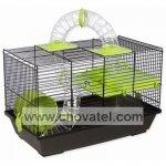 Klec SMALL ANIMAL Patrik černá se zelenou výbavou 50,5x28x32cm