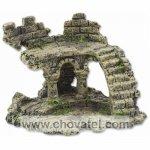 Dekorace Aqua Excellent Zřícenina hradu 13cm schody