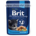 Brit Premium Cat kapsa Chicken Kitten 100g