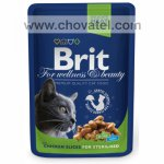 Brit Premium Cat kapsa Chicken Slices Sterilised 100g