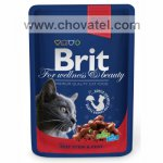 Brit Premium Cat kapsa with Beef & Peas 100g