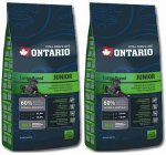 Ontario Junior Large Breed 2x13kg + 2,5kg GRATIS