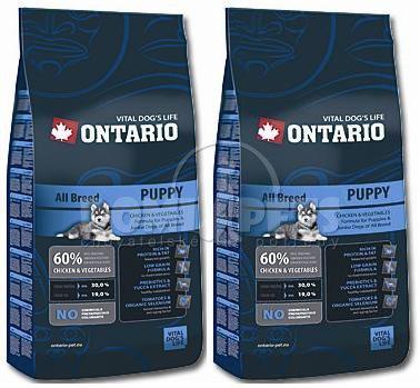Ontario Puppy 2x13kg + 2,5kg GRATIS
