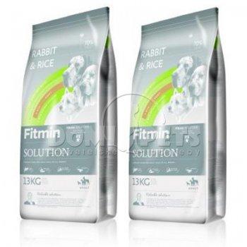 Fitmin Dog Solution Rabbit & Rice 2 x 13kg