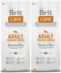 Brit Care Adult Medium Breed Lamb & Rice 2 x 12kg