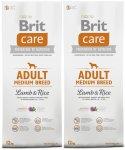 Brit Care Adult Medium Breed Lamb & Rice 2 x 12kg