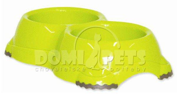 Dvojmiska MC plastová protiskluzová zelená 2x330ml