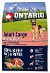 Ontario Adult Large Beef & Rice 2,25kg