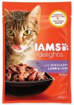 IAMS cat delights lamb & liver in jelly 85g