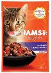 IAMS cat delights lamb & red pepper in gravy 85g