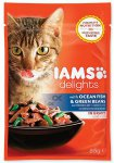 IAMS cat delights ocean fish & green beans in gravy 85g