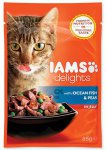 IAMS cat delights ocean fish & peas in jelly 85g