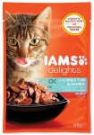 IAMS cat delights tuna & herring in jelly 85g