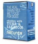Naturea Grain Free dog vlhké - Chicken, Tuna, Salmon 375g