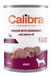 Calibra dog konzerva Adult zvěřina s brusinkami 400g