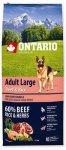 Ontario Adult Large Beef & Rice 12kg + 2,25kg