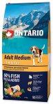Ontario Adult Medium Fish & Rice 12kg + 2,25kg
