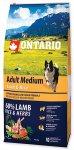 Ontario Adult Medium Lamb & Rice 12kg + 2,25kg