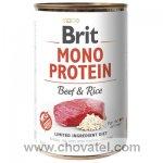 Brit Dog konzerva Mono Protein Beef & Brown Rice 400g