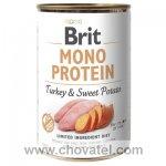 Brit Dog konzerva Mono Protein Turkey & Sweet Potato 400g