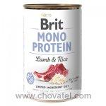 Brit Dog konzerva Mono Protein Lamb & Brown Rice 400g